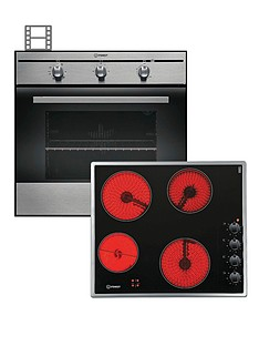 indesit-fim31kaix-60cm-single-electric-fan-oven-and-vrm640mc-ceramic-hob-stainless-steelblack