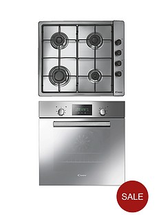 candy-acom609xm-built-in-single-fan-oven-with-60cm-gas-hob-stainless-steel