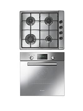 candy-acom609xm-built-in-single-fan-oven-with-clg64spx-60cm-gas-hob-stainless-steel