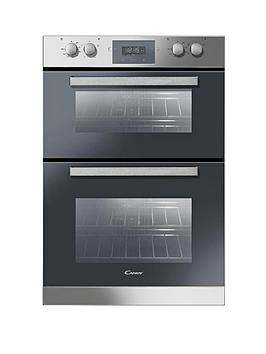 candy-fdp6109x-60cm-built-in-multifunction-double-fan-oven-stainless-steel