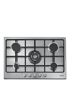 candy-cpg75sqpx-75cm-5-burner-gas-hob-with-cast-iron-pan-supports-and-quadruple-burner