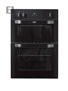 belling-bi90fp-60cm-built-in-double-fan-electric-oven-black