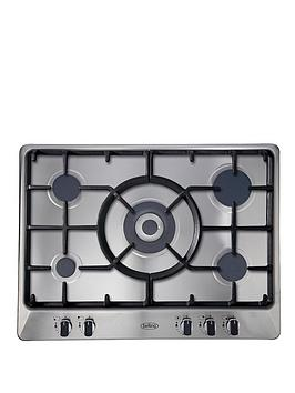 belling-ghu70gc-70cm-built-in-cast-iron-gas-hob-stainless-steel