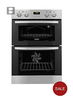 zanussi-zod35511xk-60cm-built-in-multifunction-double-electric-fan-oven-stainless-steel
