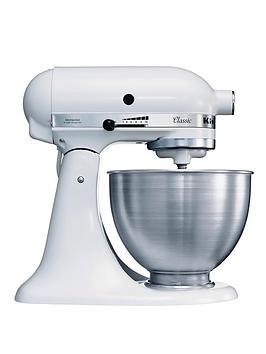 Kitchenaid k45ss classic stand mixer white for Kitchenaid 0 finance