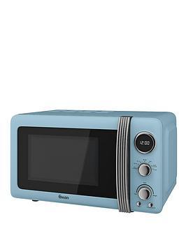 swan-sm22030bln-vintage-20-litre-digital-microwave-blue
