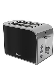 swan-st17020bn-retro-2-slice-toaster-black