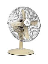 SFA1010 12 Inch Retro Desk Fan - Cream