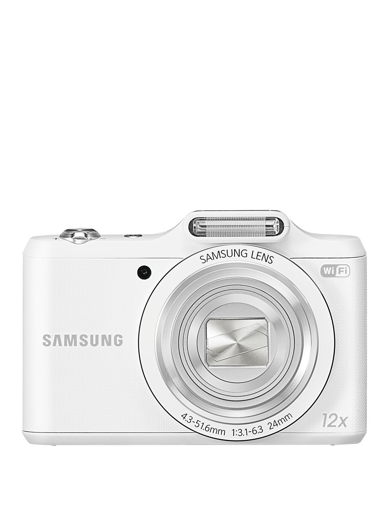 Samsung WB50F 16 Megapixel Digital Smart Camera - White, White,Black