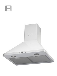 hotpoint-hhp65cmwh-60cm-chimney-built-in-cooker-hood-white