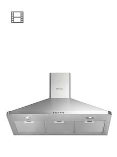 hotpoint-hhp95cm-90cm-chimney-built-in-cooker-hood-stainless-steel
