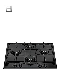 hotpoint-gc640bk-60cm-built-in-gas-hob-black