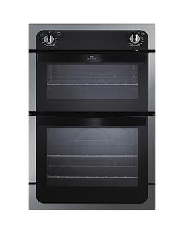 new-world-nw901do-90cm-built-in-fanned-electric-double-oven-stainless-steel