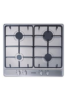 stoves-sgh600e-60cm-gas-hob-stainless-steel