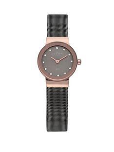 skagen-klassik-charcoal-and-rose-gold-tone-steel-ladies-watch