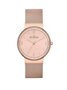 skagen-ancher-three-hand-rose-gold-tone-ladies-watch