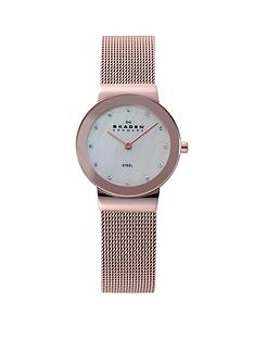 skagen-freja-rose-gold-tone-ladies-watch