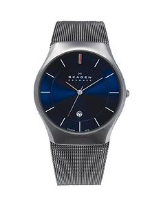 skagen-matthies-titanium-blue-dial-mens-watch