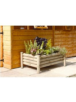 forest-raised-log-planter