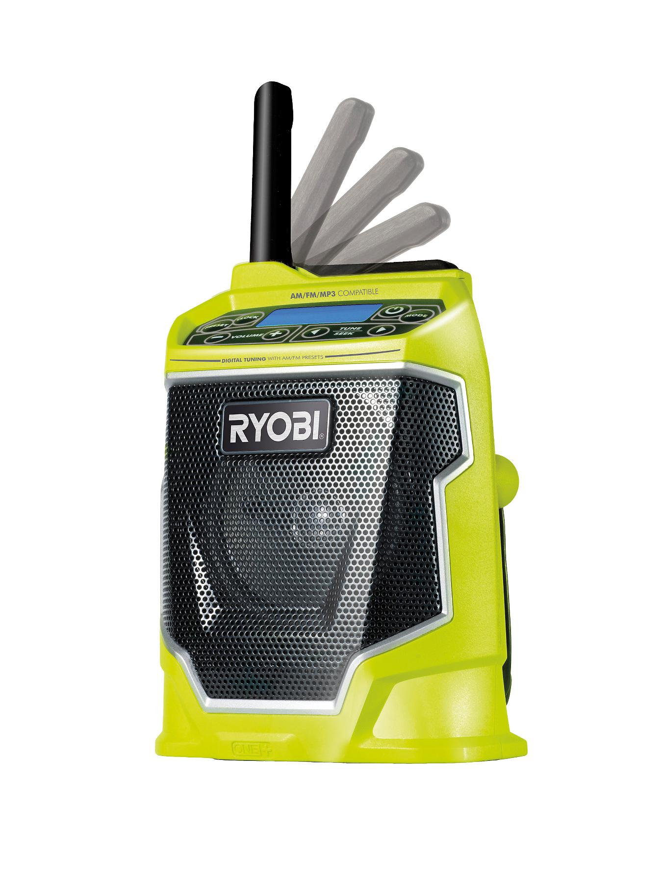 RYOBI CDR180M ONE+ 18-volt Cordless MP3 Compatible Radio - without ONE+ Battery