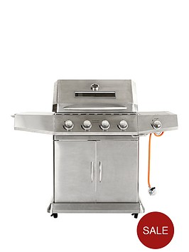4-burner-gas-bbq-with-side-burner-stainless-steel