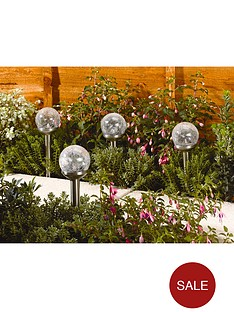 smart-solar-rainbow-crackle-globe-8-cm-stainless-steel-colour-changing-led-4-pack