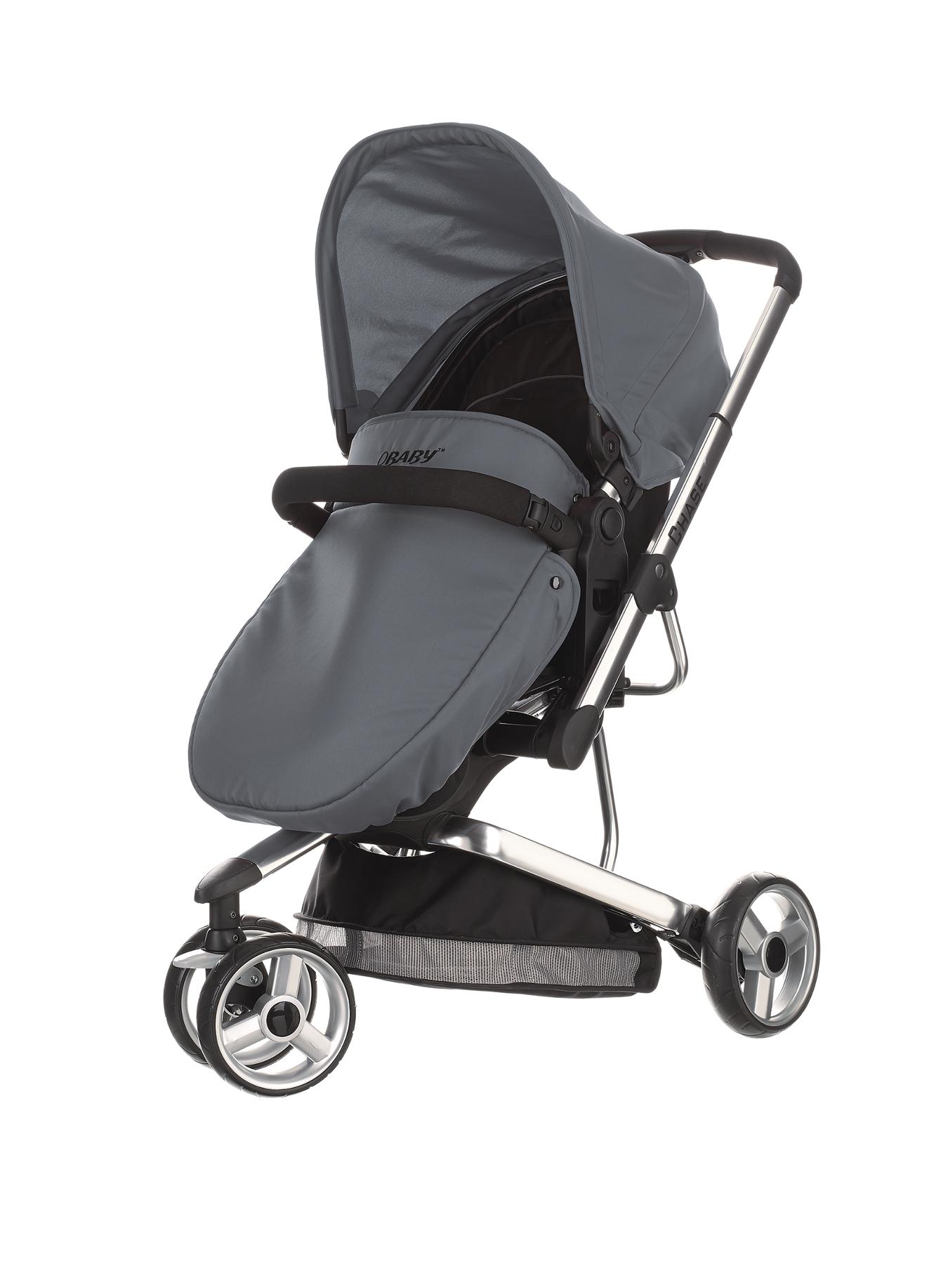 Obaby Chase 3 Wheel Pramette - Grey, Grey,Lime,Turquoise,Pink,Red,Purple