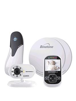 motorola mbp26 digital wireless video baby monitor with breathing sensor mat. Black Bedroom Furniture Sets. Home Design Ideas