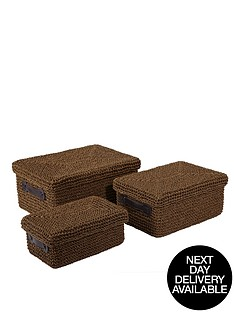 knitted-paperloom-lidded-baskets-set-of-3