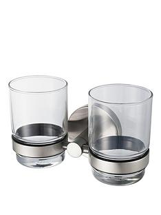 aqualux-haceka-pro2500-brushed-nickel-finish-double-glass-holder