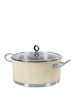morphy-richards-24cm-casserole-pan-cream