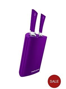 morphy-richards-tri-knife-block-5-piece-purple