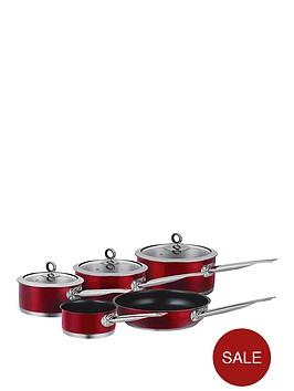 morphy-richards-5-piece-pan-set-red
