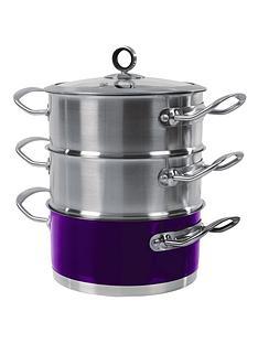 morphy-richards-18-cm-3-tier-steamer-purple