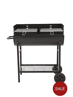 charcoal-bbq-trolley-with-2-piece-adjustable-cooking-grills