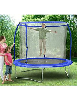 sportspower-8-ft-quad-lok-skyring-trampoline-and-enclosure