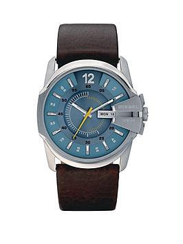 diesel-master-chief-brown-leather-strap-mens-watch