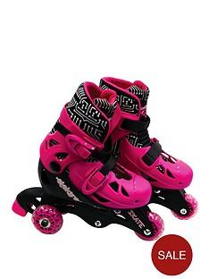 ozbozz-elektra-tri-line-skates-pink