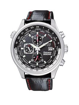 Citizen Eco-Drive Red Arrows Chonograph World Time Strap Mens Watch