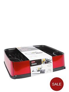 curver-urban-square-dish-drainer-red