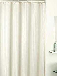 catherine-lansfield-satin-stripe-shower-curtain-cream