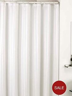 catherine-lansfield-satin-stripe-shower-curtain-white