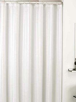 catherine-lansfield-satin-stripe-shower-curtain-white