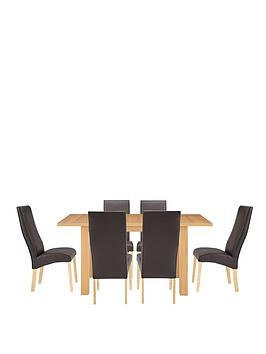 Primo Extending Table and 6 Buckingham Chairs