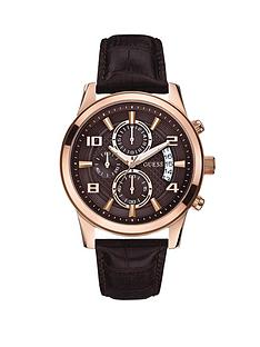guess-exec-rose-gold-plated-brown-croco-leather-strap-mens-watch