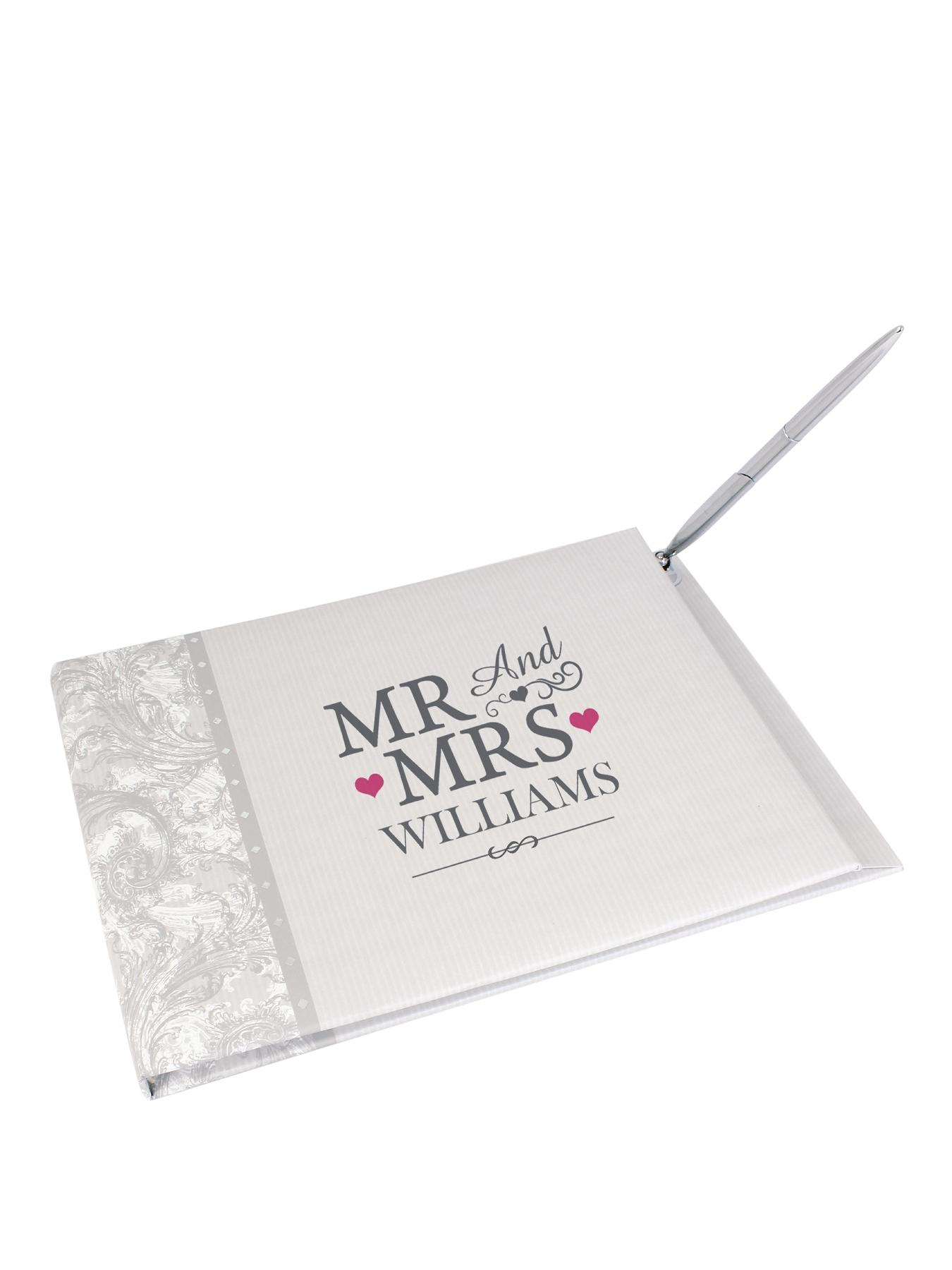 Personalised Mr and Mrs Guest Book