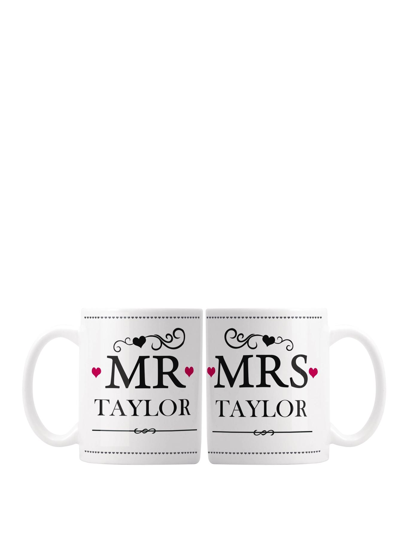 Personalised Mr and Mrs Mugs