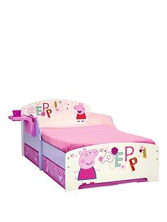 peppa-pig-toddler-bed-with-shelf-storage