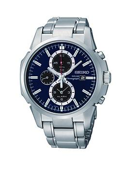 seiko-blue-dial-stainless-steel-chronograph-solar-mens-watch
