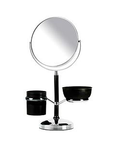 danielle-creations-black-high-gloss-and-chrome-magnified-vanity-mirror-with-beauty-organiser